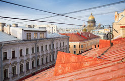 St. Petersburg, Russia. Old cityscape panorama Stock Photos