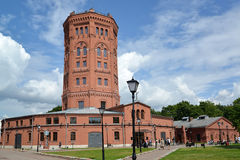 ST. PETERSBURG, RUSSIA. An old water tower - the museum World of Water of St. Petersburg Stock Images