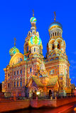 St.Petersburg,  Russia, Orthodox temple  Church of the Savior on Blood Royalty Free Stock Photo
