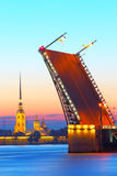 St .Petersburg,  Russia,  Palace Bridge and Peter and Paul Fortress Royalty Free Stock Photography