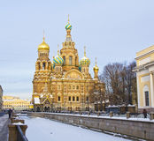 St. Petersburg, Russia, Resurrection cathedral of Saviour on blo Royalty Free Stock Images