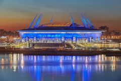 St. Petersburg, Russia, russian stadium built for 2018 World Cup Stock Images