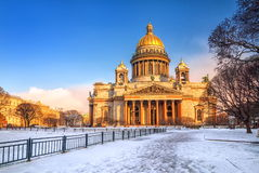 St Petersburg, Russia. Saint Isaacs Cathedral in St Petersburg, Russia, in winter stock image