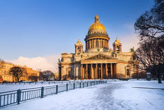 St Petersburg, Russia. Saint Isaacs Cathedral in St Petersburg, Russia, in winter stock images