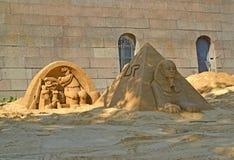 ST petersburg russia Sandiga skulpturer på Peter och Paul Fortress Royaltyfria Bilder