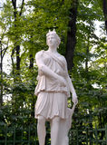 ST. PETERSBURG, RUSSIA. A sculpture  Artemis Diana in the Summer garden Royalty Free Stock Photo