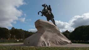 Close up of Peter The Great sculpture Horseman in the summer Royalty Free Stock Photography