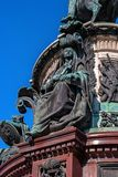 St Petersburg, Russia - 24 settembre 2017: Frammento della decorazione del monumento a Niccolò I Immagine Stock Libera da Diritti