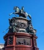 St Petersburg, Russia - 24 settembre 2017: Il monumento a Niccolò I, un monumento equestre bronzeo di Niccolò I Fotografie Stock