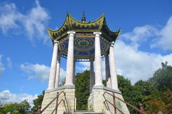 St Petersburg, Russia - 3 settembre 2013 - padiglione nello stile cinese a Catherine Park Pushkin (Tsarskoye Selo) fotografia stock
