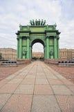 ST PETERSBURG, RUSSIA - 13 SETTEMBRE 2015: Portone trionfale di Narva Immagine Stock Libera da Diritti