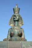 ST petersburg Russia Sfinks z osoby połówką w postaci czaszki i żeńskiej postaci Obrazy Stock