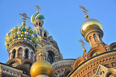 St. Petersburg, Russia, Spas at Blood royalty free stock image