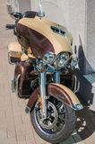 St. Petersburg, Russia - 06.18.2019: Spectacular modern motorcycle parked on a city street.Harley-Davidson Ultra Limited stock photos