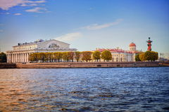 St Petersburg, Russia. Vassilyevsky island in the center of Saint Petersburg, Russia royalty free stock images