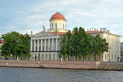 ST. PETERSBURG, RUSSIA. View of Institute of the Russian literature (Pushkin house) Royalty Free Stock Image