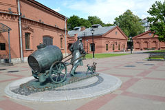 ST. PETERSBURG, RUSSIA.  A view of a monument to the St. Petersburg water carrier Stock Images