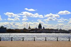 St. Petersburg, Russia. St. Petersburg, view of the Neva from the beach of the Peter and Paul Fortress Stock Images