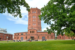 ST. PETERSBURG, RUSSIA. A view of an old water tower - the museum World of Water of St. Petersburg Royalty Free Stock Image