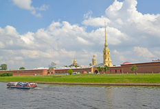 ST. PETERSBURG, RUSSIA. View of the Peter and Paul Fortress and Kronverksky passage Stock Images