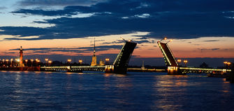 St. Petersburg, Russia in a white night Royalty Free Stock Image