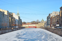 St. Petersburg, Russia, in a winter Royalty Free Stock Images