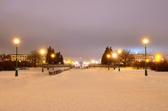 St-Petersburg, Russia in winter evening Stock Image