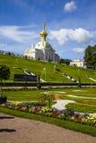 ST PETERSBURG, RUSSIE - 2 AOÛT 2015 : Palais grand chez Pertergo Images stock