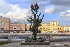 St Petersburg, Russie - 1er juillet 2015 : Alfred Nobel Monument à St Petersburg, Russie Photographie stock libre de droits