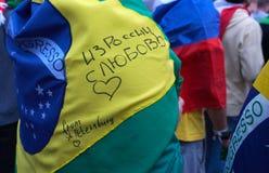 ST PETERSBURG, RUSSIE - 20 JUIN 2018 : Le championnat réunit des personnes et fait de nouvelles amitiés Image libre de droits