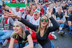 St Petersburg, Russie, la FIFA éventent la coupe du monde 2018 de festival Images stock