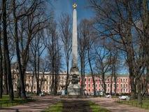 St Petersburg, Russie, mai 2018 : Obélisque aux victoires du RU photos stock