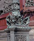 St Petersburg, Russie - 24 septembre 2017 : Fragment du décor du monument à Nicholas I Photographie stock