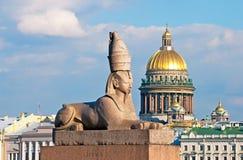 St Petersburg Russie Sphinx antique Photos stock