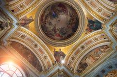 St Petersburg, Russie, vue intérieure du St Isaac Cathedral Photographie stock libre de droits
