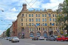St. Petersburg, Russland Ansicht von Zagorodny-Allee und von rentablem Haus M A Stenbok-Fermor 1902 Lizenzfreie Stockfotografie