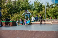 ST PETERSBURG, RUSSLAND AM 29. AUGUST 2015: EXTREMES FESTIVAL Stockfoto