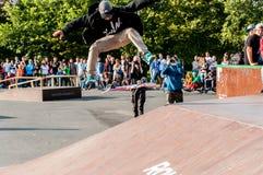 ST PETERSBURG, RUSSLAND AM 29. AUGUST 2015: EXTREMES FESTIVAL Stockbild