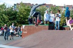ST PETERSBURG, RUSSLAND AM 29. AUGUST 2015: EXTREMES FESTIVAL Stockfotografie