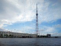 St Petersburg, Russland, der Fernsehturm Stockbild
