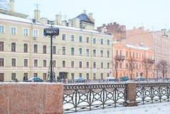 St Petersburg Russland Der Moika-Fluss Stockfotografie
