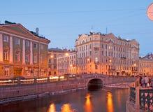 St Petersburg Russland Der Moyka-Fluss Quay Lizenzfreie Stockbilder