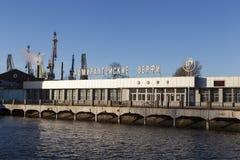 St. PETERSBURG, RUSSLAND - 8. DEZEMBER 2015: Foto von Admiralitäts-Werften Stockbild