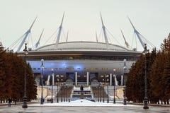 St Petersburg, Russland am 1. Februar 2017: Die neue Stadion Zenit-Arena, in der der Weltcup im Jahre 2018 gehalten wird Lizenzfreie Stockbilder