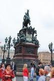 St. PETERSBURG, RUSSLAND - 12. JULI 2015: Das berühmte Monument eingeweiht Zar Nicholas stockfotos