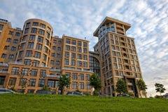 ST PETERSBURG, RUSSLAND - 9. JULI 2017: Omega-Haus auf dem Pesochnaya-Damm in St Petersburg, Russland Stockfotografie
