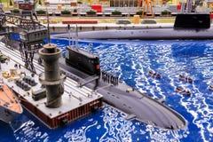 St Petersburg, Russland - 13. Mai 2017: Fragment großes großartiges Maket Russland Großartiges Maket Russland das Welt-` s größte Stockfotos