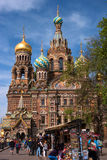 St Petersburg, Russland - 14. Mai 2016: Kirche des Retters auf verschüttetem Blut St Petersburg, Russland Stockfotos