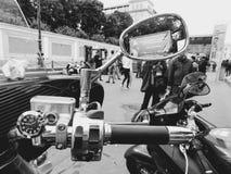 St Petersburg, Russland, 06 08 2017: Motorrad auf den Straßen von St Petersburg Stockfotos