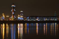 St Petersburg, Russland nachts Lizenzfreie Stockbilder